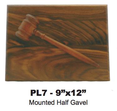 MOUNTED HALF GAVEL
