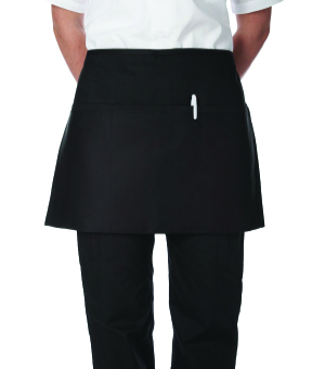 3 POCKET BLACK WAIST APRONS