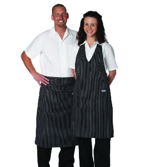 GANGSTER STRIPE V-NECK APRONS